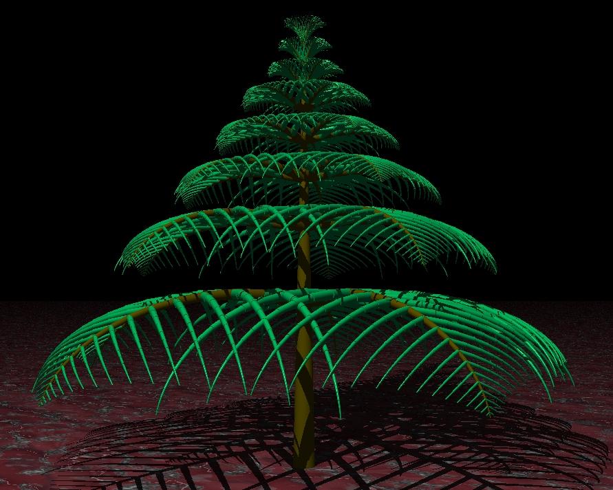 Primera aproximación de un árbol de navidad.