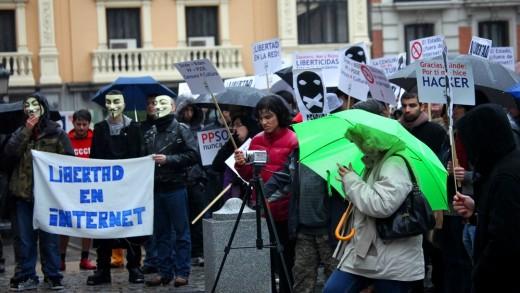 Manifestación anti-Sinde 19F en Madrid.