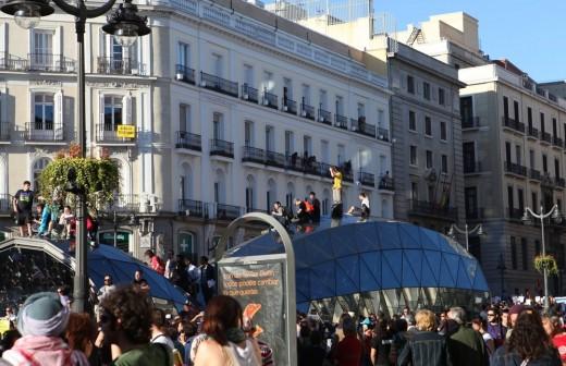 (15m-2011) La manifestación a su llegada a la Puerta del Sol.
