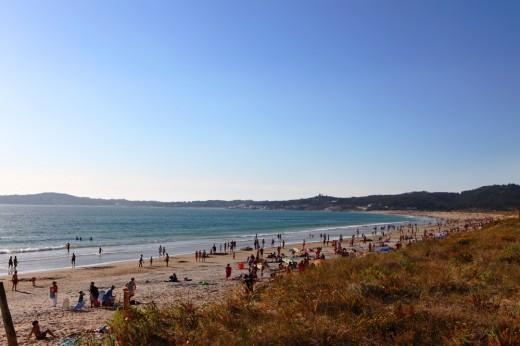Panorámica de la Playa de la Lanzada.