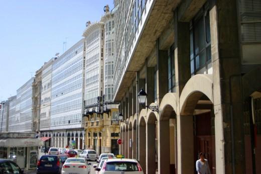 Curiosa perspectiva con doble punto de fuga (A Coruña)