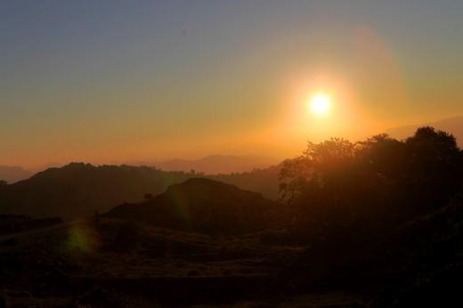 Puesta de sol en Picos de Europa.