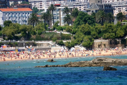 Vista de la playa de El Sardinero desde La Magdalena.