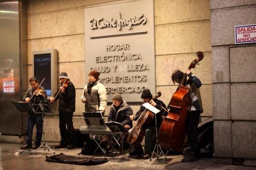 Orquesta callejera.