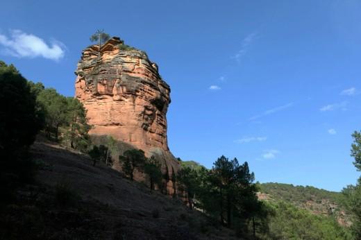 Monolito en el Barranco de la Hoz (Alto Tajo).