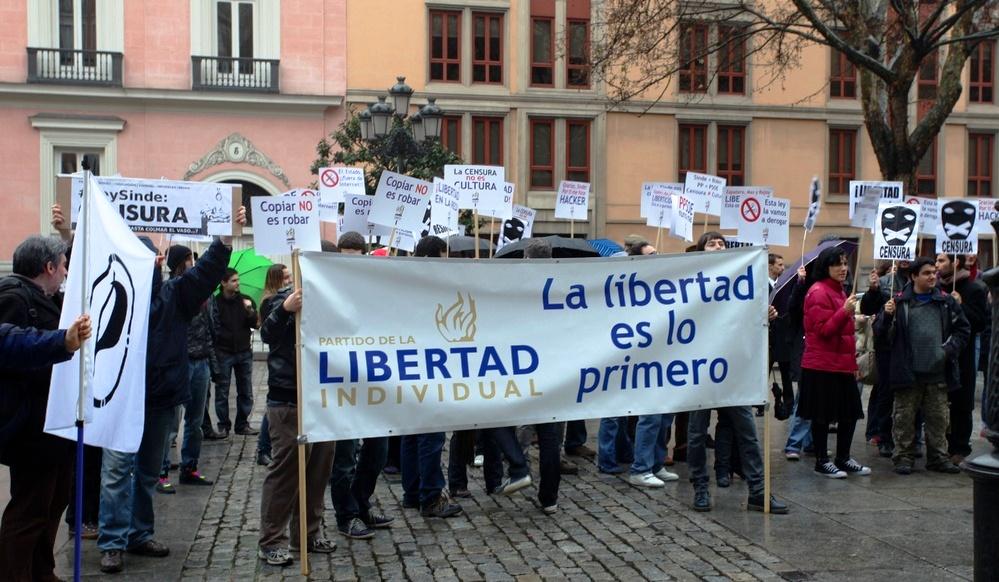 Las pancartas de la manifestación.