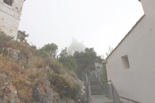 Niebla en el castillo de Guadalest.