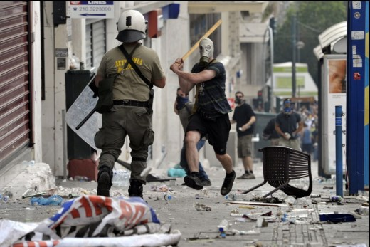 Manifestante Vs Policia