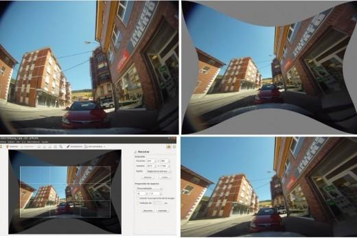 Postprocesado para corregir la distorsión de la GoPro