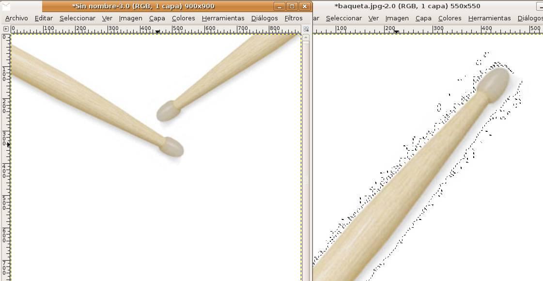 (Fig-7) Composición de las dos baquetas